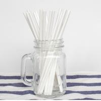 Quality OEM And ODM Plain Solid White Paper Straws 100PCS Environmental Protection for sale
