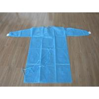Quality Nonwoven SMS / PP + PE Disposable Medical Gowns / Surgical Isolation Patient Coat  S M L XL for sale