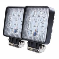 "Quality 27W Square LED Work Light 3W High Power Epistar LEDs Off-road  Flood beam 10-30V 4.3"" Slim profile for sale"