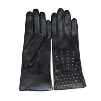 China Plain Type Mens Soft Leather Gloves Machine Sewing Studded Leather Gloves on sale