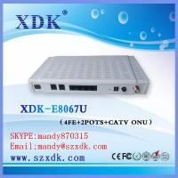 Buy cheap XDK huawei GPON onu DATA VOIP CATV TRIPLE PLAY FTTH GEPONE CATV ONU from wholesalers