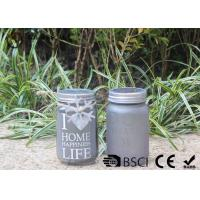 Customized Mason Jar Led Solar Lights , Solar Powered Mason Jar Lantern