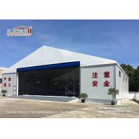 Quality White Color Permanent Relocatable Aircraft Hangar 25 X 50 Side Hard Wall for sale