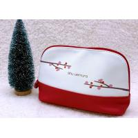 Quality Colorblock Travel Beauty Bag / 21*6.5*13.5CM Cute Makeup Bags Flower Printed for sale