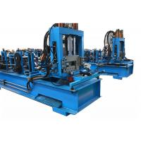 China Blue Color Z C Channel Roll Forming Machine Gearbox Driven 16 Forming Stations on sale