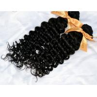 Quality Raw Indian Curly Virgin Hair 4 Bundles Lot Indian Deep Wave Curly Weave Top Grade BLACK IN Virgin Human Hair Extension for sale