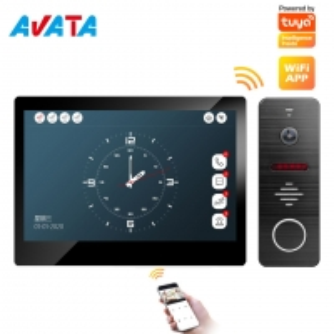 Quality IP/WiFi 4 Wire HD Touch Screen Video Intercom Smart Home Tuya Wire/Wireless Video Door Phone Doorbell for sale