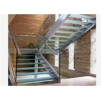 Quality U channel modern baluster tempered glass stairs usage glass railing prices for sale