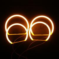 China led light cotton angel eyes headlight ring yellow smd cotton angel eyes for bmw e46 on sale