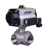 Quality Pneumatic clamp quick ball Health valve stainless steel  health articulated type pneumatic three-way ball valve for sale