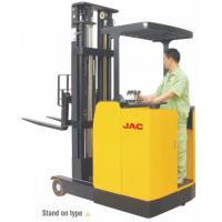 Quality Standing Reach Truck 1.5 Ton Capacity , Electric Counterbalance Reach Truck for sale
