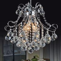 Quality Small metal chandelier with K9 crystal for indoor home lighting fixtures (WH-MI-70) for sale