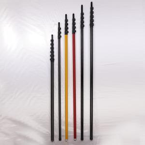 China super rigid High Modulus Carbon Fiber Pole 40FT telescopic pole / HiMod pole on sale