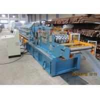 Quality Per Cutting Roll Forming Machine For Purlin , 100-305 Change Sizes Automatically for sale