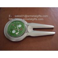 Buy Custom golf club gift metal golf divot tool with magnetic golf ball marker, at wholesale prices