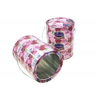 Quality Beautiful Cylinder Biscuit Tin Box , Cake And Biscuit Storage Tins With Slot for sale