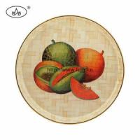 Quality China Custom Bamboo & Wooden Printed Round Plate for Houseware for sale
