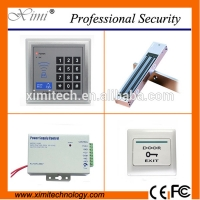 Quality Door access control kits including 180kg electronic lock, plastic exit button,12V3A power supply smart door access control sets for sale