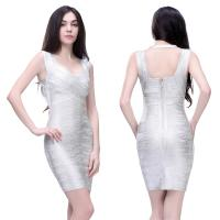 Quality Fast shipping sexy mature ladies boat neck backless short bodycon bandage dress for sale