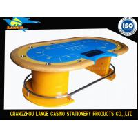 China Yellow WPT Stainless Leg Royal Custom Gaming Table Texas Hold em Poker Table wholesale