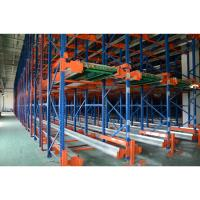 Quality Heavy Duty Movable Pallet Shuttle Racking System Customized Size For Cargo Storage for sale