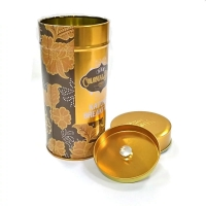 Quality Matt Lamination D75mm CMYK Tinplate Tea Storage Tins for sale