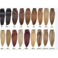 Quality Unprocessed Colored Human Hair Extensions , Colored Hair Weave for sale