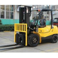 Quality ISUZU Engine Diesel Forklift Truck Energy Saving Yellow Color Turning Radius 2240mm for sale