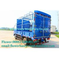 China HOWO Light Duty Commercial Trucks / Mini Stake Cargo Truck Blue wholesale