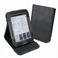 Quality Stand Design Genuine Cow Leather Case for Nook Touch E-book Reader for sale