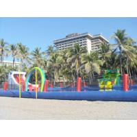 China Durable Inflatable Water Park Slides With Big Pool For Beach Or Hotel on sale