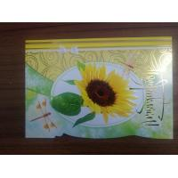 Quality Promotional Beautiful Die Cut Flower Series Cards Printing   for sale