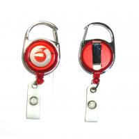 Quality Fashion Durable Retractable Badge Reels Free Artwork Under Customer Logo for sale