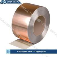 China Two Layers Copper Invar Copper  C11000 Cu & FeNi36 Cladded Metal Foil on sale