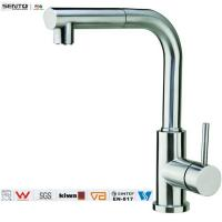 Lead free haalthy single handle pull out kitchen faucet