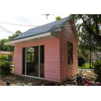 Quality EPS Sandwich Panel Roof Pink Cladding Prefab Steel House For Reception Room for sale