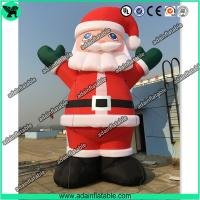 Quality Advertising Giant Inflatable Santa Claus Cartoon Christmas Decoration Inflatable Mascot for sale