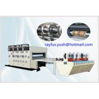 Quality High Efficiency Flexo Printer Slotter Die Cutter Three Four Colour Printing for sale