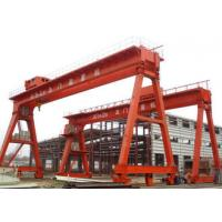 Quality Work Yard A Frame Double Beam Gantry Crane , Optional Color Rubber Tired Gantry Crane for sale