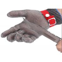 China 304 316 Stainless Steel Chainmail Cutting Glove For Meat Process And Butcher on sale