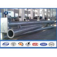 Quality Round Hot dip Galvanized Steel Tubular Pole ASTM A123 Standard flange mode for sale