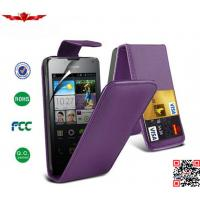 China Newest High Level PU Credit Card Flip Cover Case For Huawei Ascend Y330 on sale