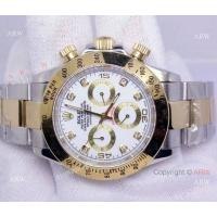 China Rolex Cosmograph Daytona Watch: 2-Tone White Dial Diamond Markers on sale