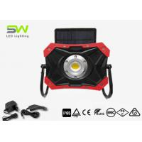 China Magnetic Stand 10W Solar Led Work Light Rechargeable By AC DC Adapter IP65 on sale