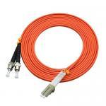 Quality 850 Wavelength Optical Fiber Patch Cord 3 Ft LC To ST Duplex 50 / 125um OM2 for sale