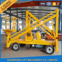Buy 10m Diesel Engine Aerial Trailer Mounted Boom Lift Hire , Towable Articulating Boom Lift at wholesale prices