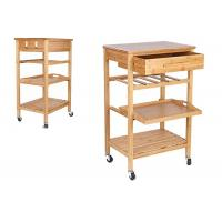 Quality Hot Sale High Quality Decor 4-Tier Bamboo Home Furniture Kitchen Trolley for sale
