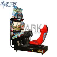 Quality 32 Inch Screen Racing Car Game Machine With Dynamic Steering Wheel And Seat for sale