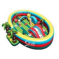 China 8x6 meters Jungle Theme Kids Inflatable Fun Park with Slide For Indoor Or Outdoor Use on sale