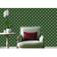 China Embossed Pvc Contemporary Wall Coverings , Four Leaf Home Floral Wallpaper For Walls on sale